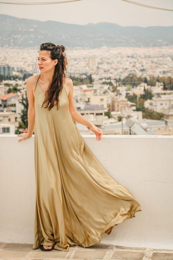 φορεμα λαδι argilos