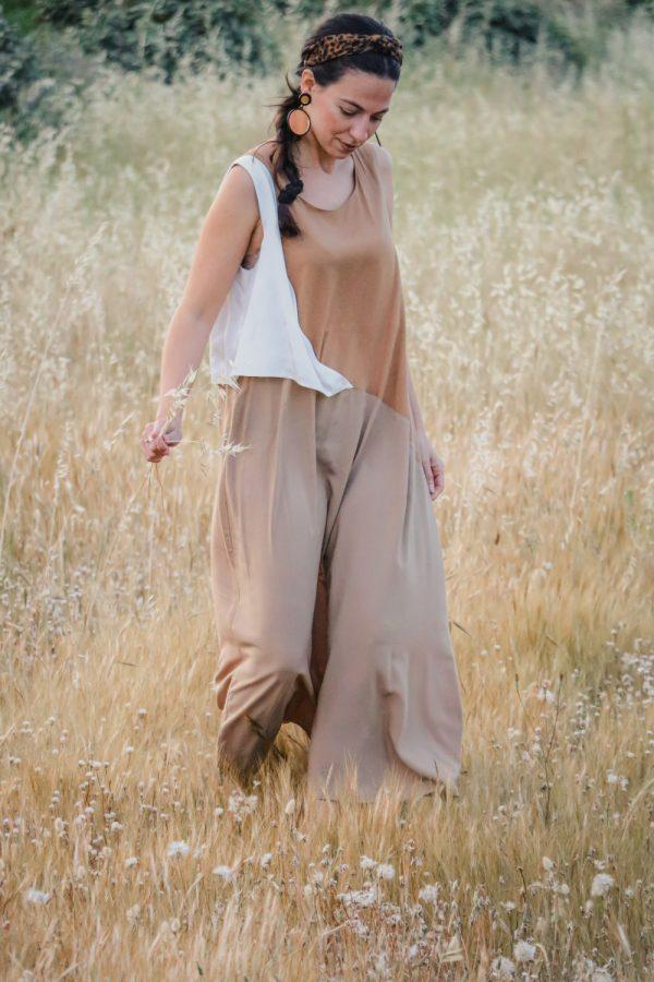 φορεμα μπεζ argilos